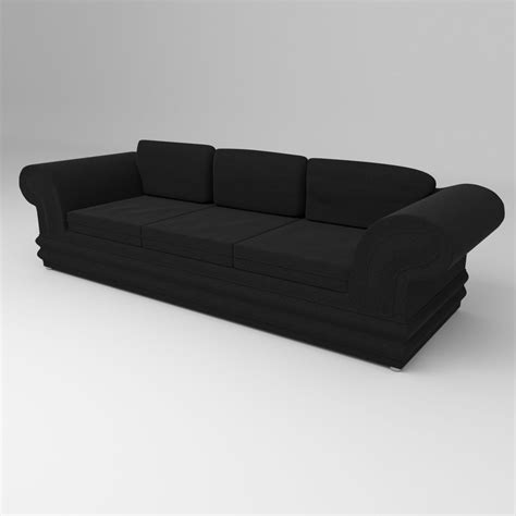 suede couch suede couch 3d model obj 3ds fbx blend cgtrader com