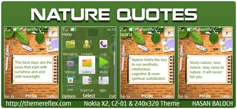 nokia c2 nature themes nature quotes animated theme for nokia x2 c2 01 240 215 320