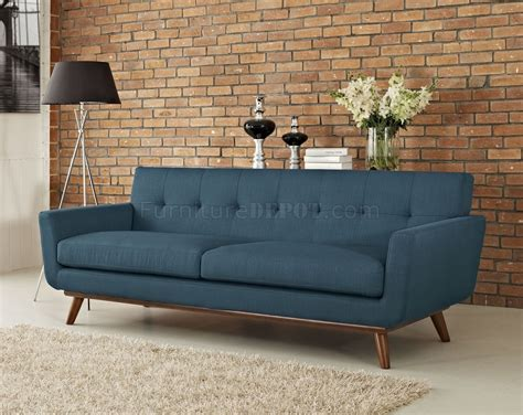 azure sofa engage sofa in azure fabric by modway w options