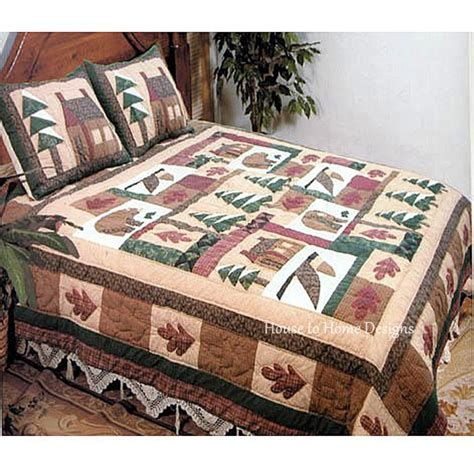 mountain bedding sets winter mountain cabin quilt set