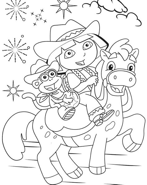 dora horse coloring pages 17 best images about kids coloring pages on pinterest