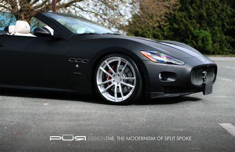 pur wheels and sr auto do work on a maserati granturismo
