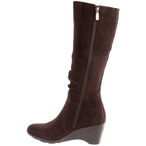womans wedge boots blondo lizenn wedge boots for 7406x save 85