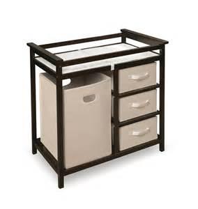 Badger Basket Modern Changing Table Badger Basket Modern Changing Table With Three Baskets Her By Oj Commerce 94 68 101 31