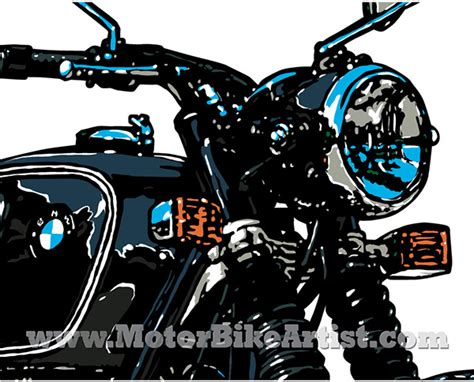 illustrator tutorial motorcycle bmw r75 5 vintage motorcycle vector art drawing on wacom