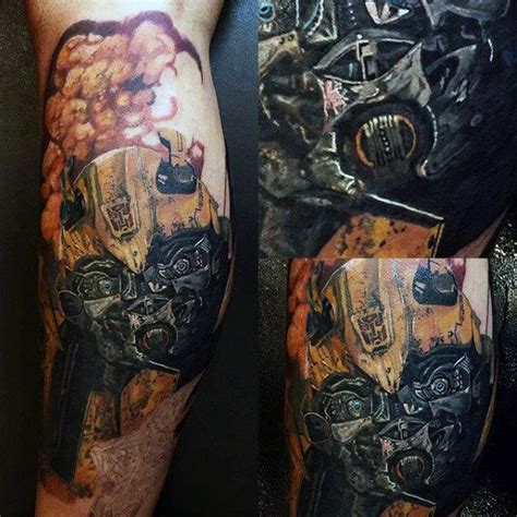 awsome tattoos for men 60 transformers designs for robotic ink ideas