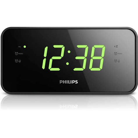 philps digital led alarm clock radio big w