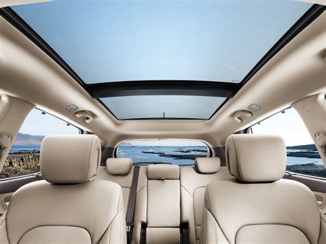 Hyundai Santa Fe Sunroof by Santa Fe Panoramic Glass Sunroof Hyundai Australia