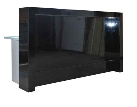 black reception desk black office counter gloss black reception desk