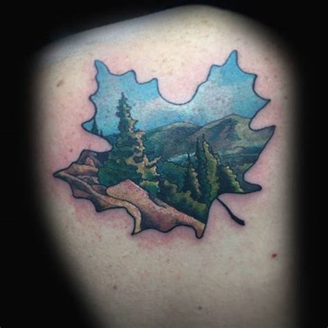 80 maple leaf tattoo designs for men canadian and
