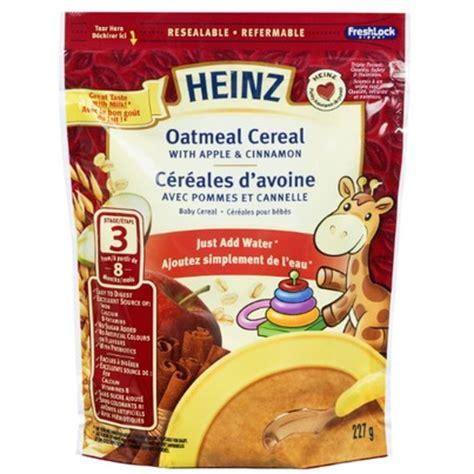 Heinz Oat And Banana Cereal 7 Months heinz baby oatmeal cereal add water