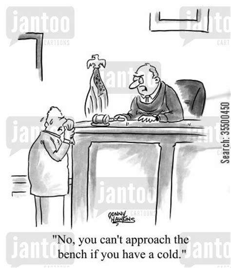 approach the bench cold virus cartoons humor from jantoo cartoons