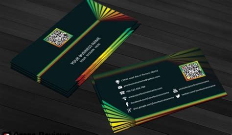 colorful business card template psd colorful business card template psd psd file free