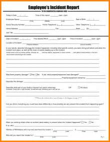 employee form template doc 548708 employee incident report template employee