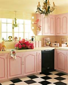 pink kitchen cabinets shabby chic betterdecoratingbible