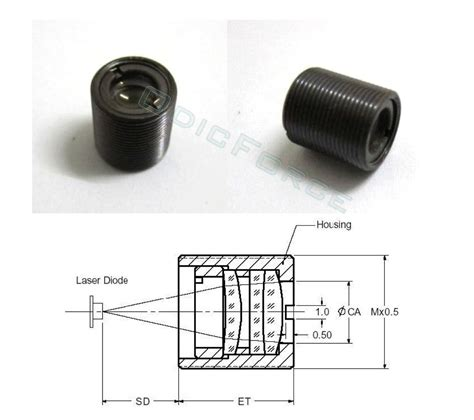 laser diode lens 3 element collimating glass lens assembly coated for 630 660nm 808nm ir lasers odicforce
