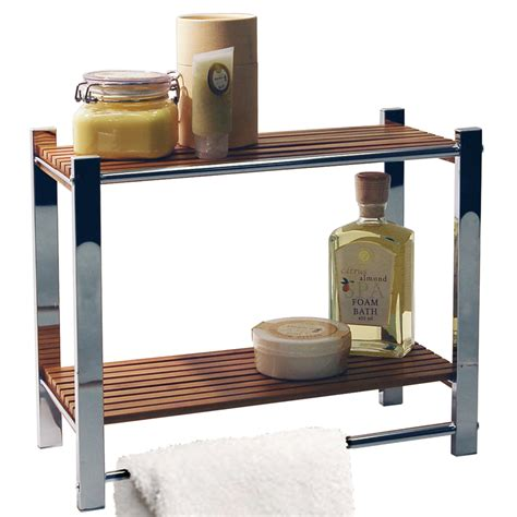 bamboo bathroom shelves bamboo bathroom wall 2 tier storage shelf towel rail