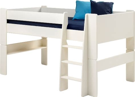 White Mid Sleeper Bed by Mid Sleeper Bed White Mdf Steens For White
