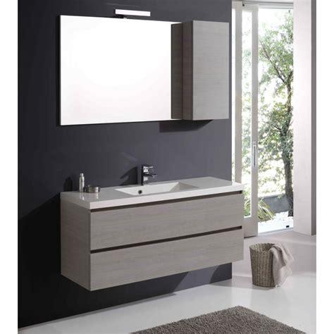 mobile specchio bagno con luce mobile sospeso 120 cm con lavabo cassetti e pensile kv