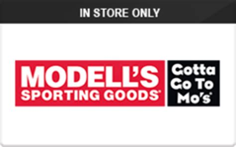 Modells Gift Cards - buy modell s sporting goods in store only gift cards raise