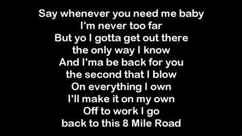 eminem yellow brick road lyrics eminem 8 mile lyrics doovi