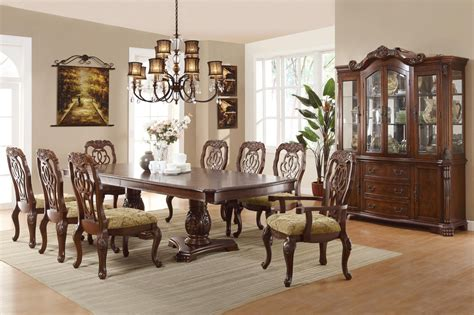 Formal Dining Room Furniture by Marisol Cherry Finish Formal Dining Room Table Set