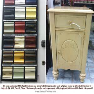 Color Wash Painting Furniture - mahogany side table finished with milk paint by retailer silverleaf interiors general finishes