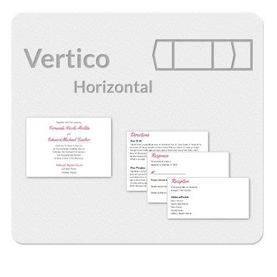 vertico horizontal invitation template