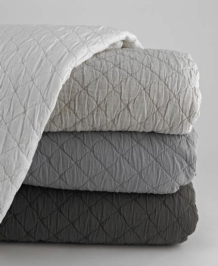coverlets and shams traditions linens louisa linen coverlet and shams from