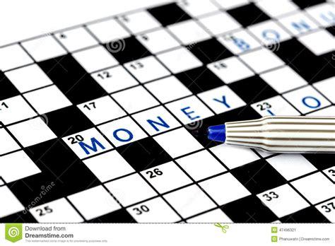 design dream up crossword money in solving crossword puzzle stock photo image