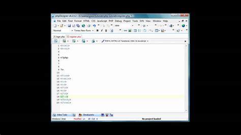 tutorial php login registration php login register tutorial part 4 youtube