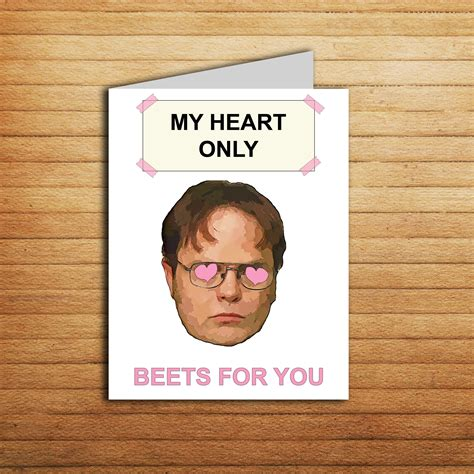 office anniversary card dwight schrute card beet funny