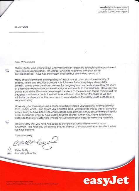 cancellation letter easyjet third letter to barton chairman of easyjet shirty letters