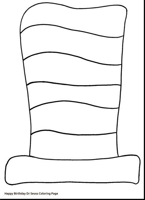 cat in the hat template happy birthday dr seuss coloring page freecolorngpages co