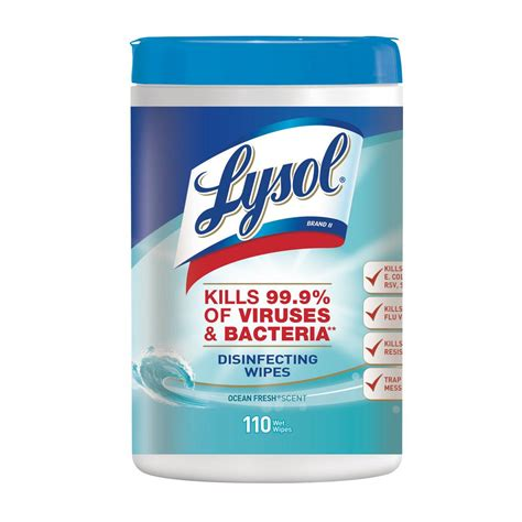 lysol ocean fresh disinfecting wipes 110 count 19200