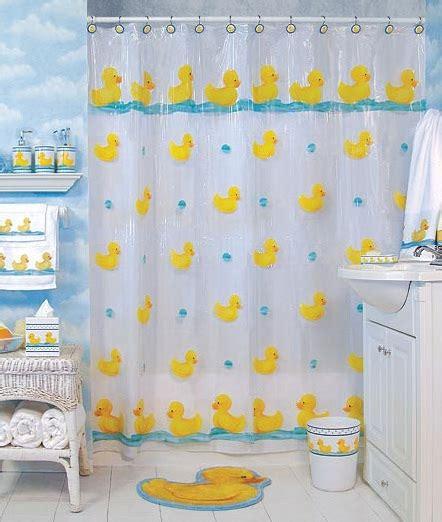 Rubber ducky bathroom decor shower curtain home interiors