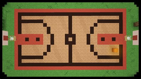 minecraft how to make a basketball court