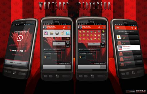 temas para whatsapp iphone whatsapp red android by yorzua