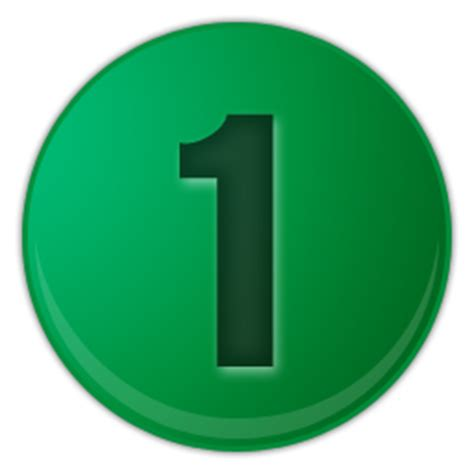 Green Mba Number 1 by Collection Of 1 Icons Free