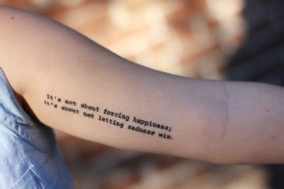 the wonder years tattoo the lyrics are it s not about forcing happiness it s