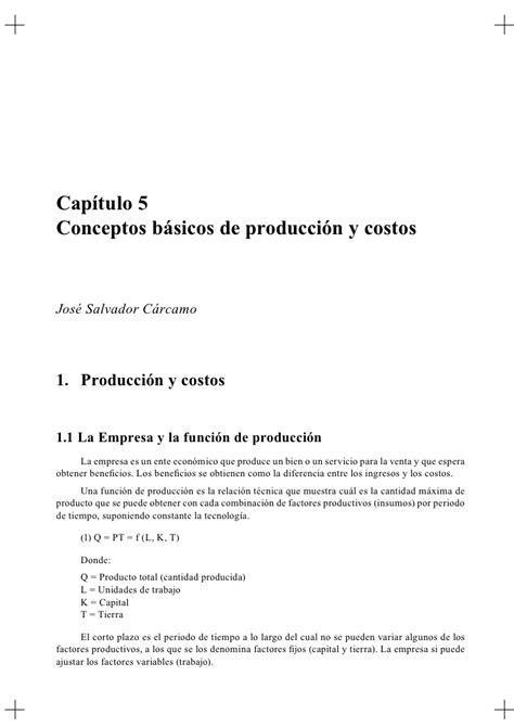 costos bsicos slideshare conceptos basicos de produccion y costos