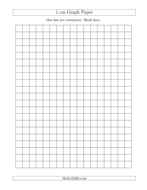 printable graph paper math drills 1 cm graph paper with black lines a