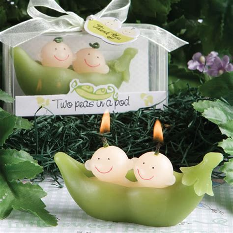 two peas in a pod centerpieces two peas in a pod collection candle favors
