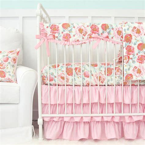 Vintage Floral Crib Bedding Felicity S Floral Crib Rail Cover Caden