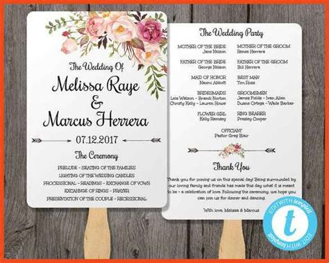 wedding programs templates sop format exle