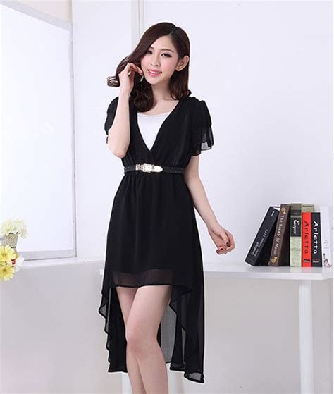 Mini Dress Pesta Korea Hitam Putih Tanpa Lengan Impotr Murah dress wanita korea model terbaru model terbaru jual