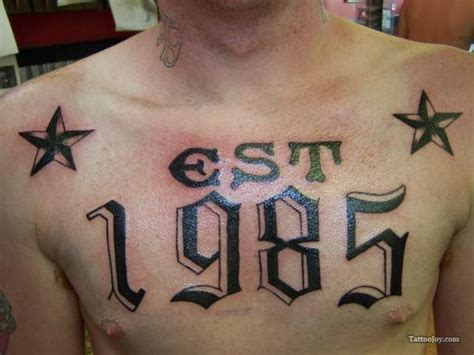 est 1986 tattoo designs the gallery for gt est 1990 chest