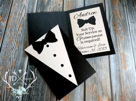 your to be a service custom groomsman invitation suit up your service as groomsman is required best