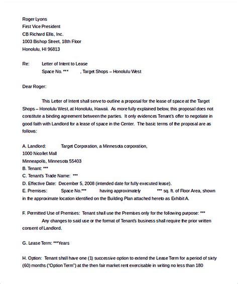 real estate letter of intent template make the letter of interest worth reading