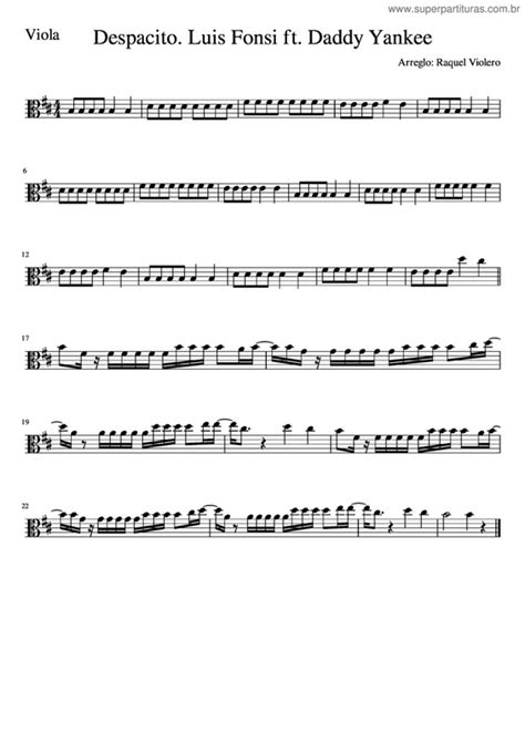 despacito harpa super partituras despacito v 7 daddy yankee luis fonsi